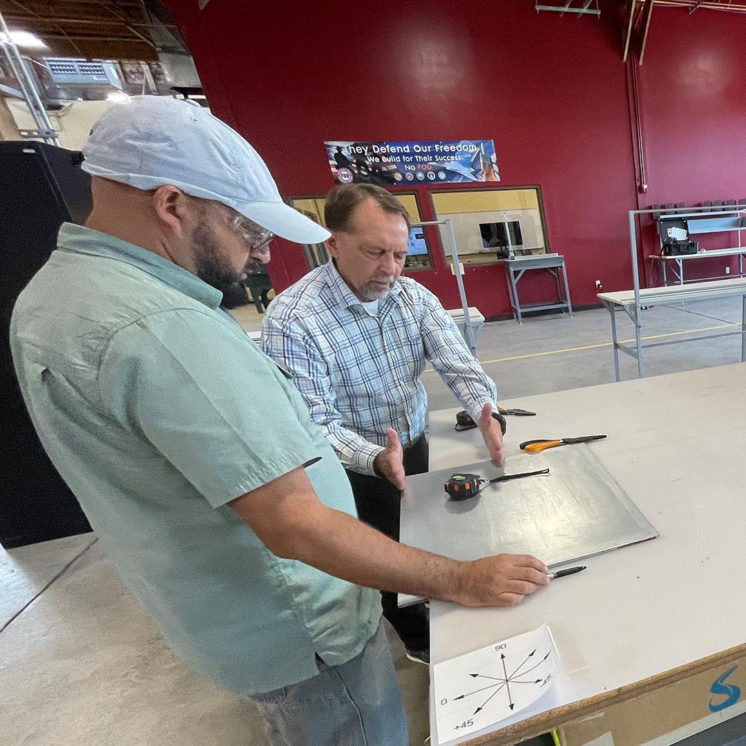 EFSC instructor at Composites workshop