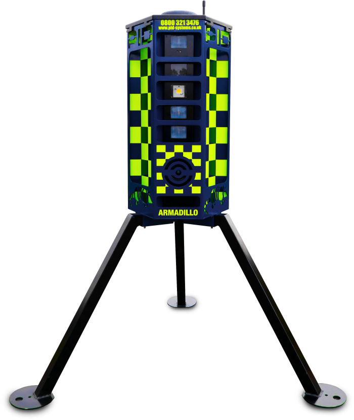 SmartWater's CCTV-enabled robots, or VideoGuard 360 units
