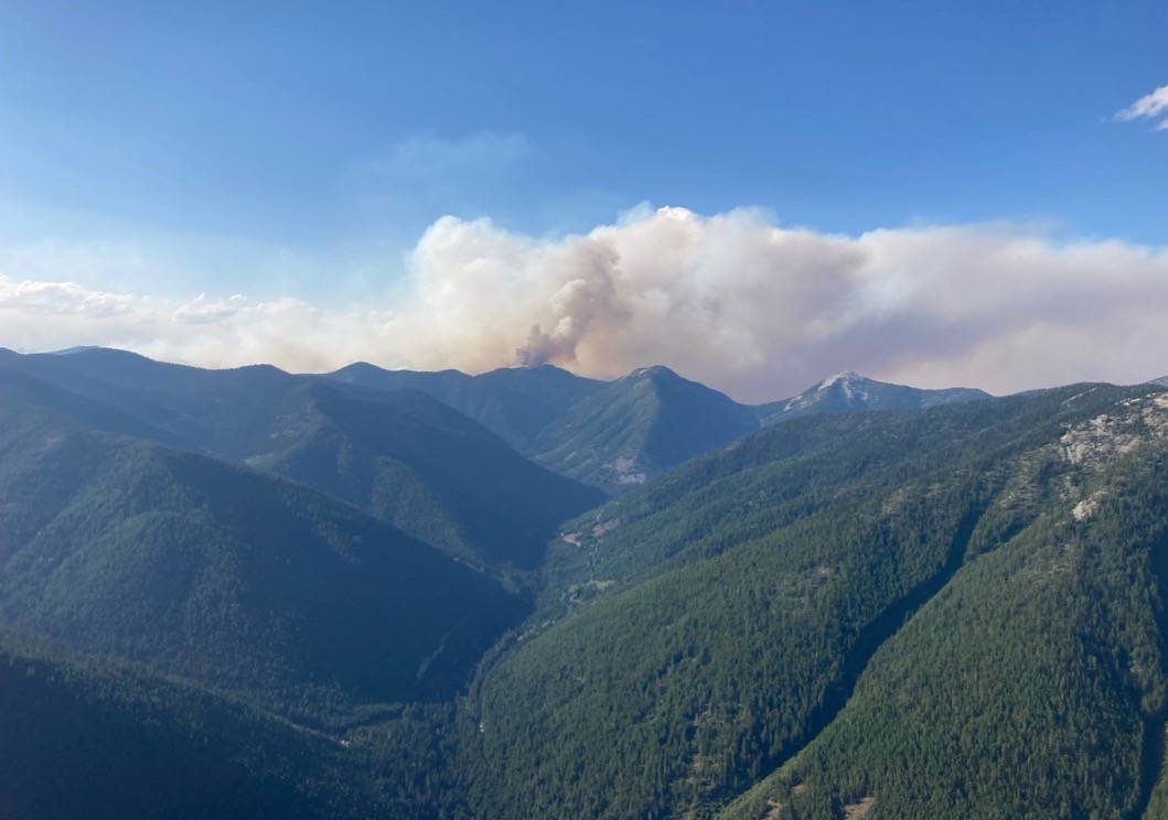 The Trozzo Creek fire near Winlaw in the Slocan Valley. Photo: BC Wildfire Service