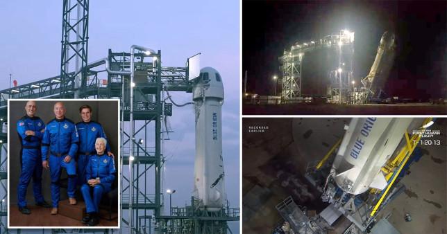 LIVE - Watch as Jeff Bezos and Blue Origin crew prepare to blast into space