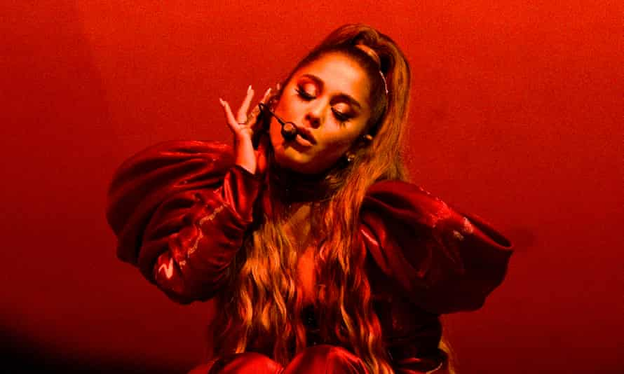 Ariana Grande performs at Lollapalooza in Chicago in 2019.