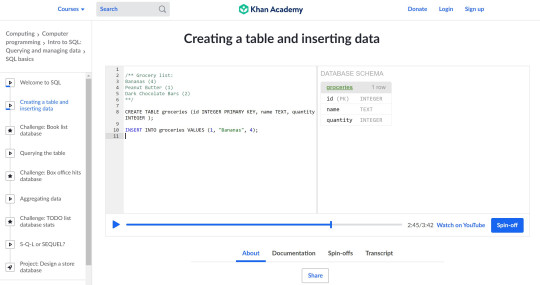 Online course give you dual windows to see both code and its effect in real-time (Khan Academy)