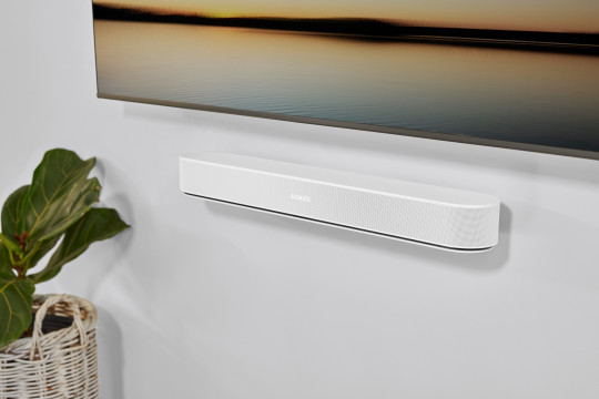 The Beam still comes in either black or white and can be free-standing or wall mounted (Sonos)