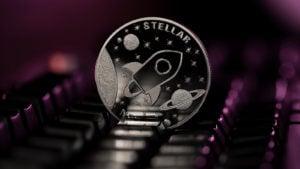 A concept coin for Stellar Lumens (XLM).