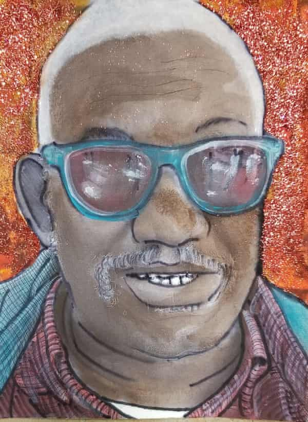 A portrait of Billups for the Bayview InterGenerational Program.