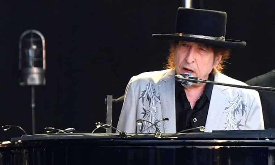 Bob Dylan performs at Hyde Park in London.