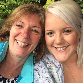 Gill Dutton with her daughter Lisa McBlane, 33