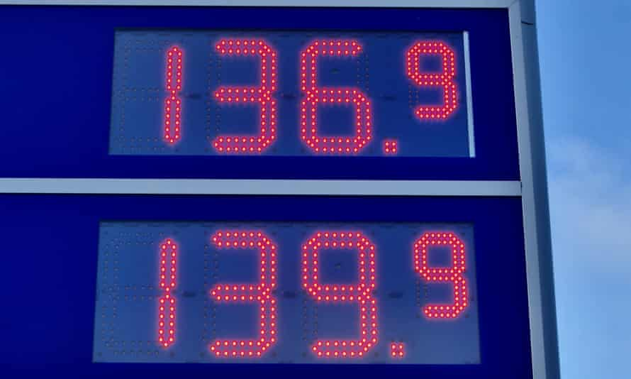Petrol prices are the highest since 2013.