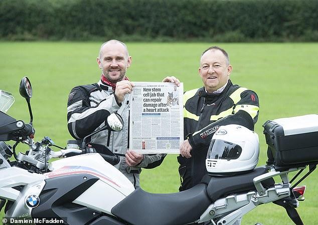 Failing heart: Dave Randle, right, with his friend Mark Preston, was told to arrange palliative care