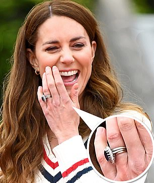 Royal tradition: Kate Middleton opted for a Welsh gold wedding ring