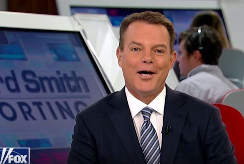 Shep Smith smiles while he announces his departure from Fox News.