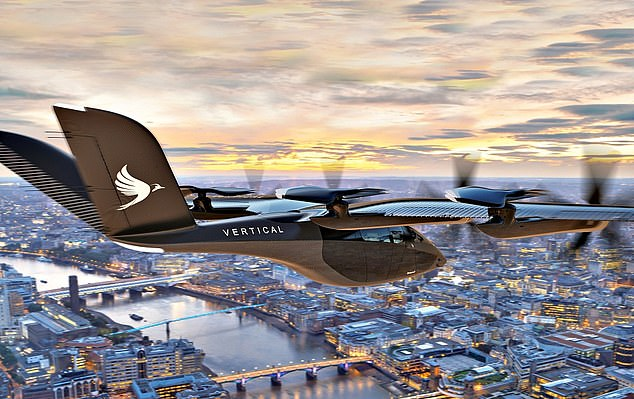 Future flight: Japanese conglomerate Marubeni has ordered 200 of Vertical Aerospace's groundbreaking taxis, which it will receive in 2025