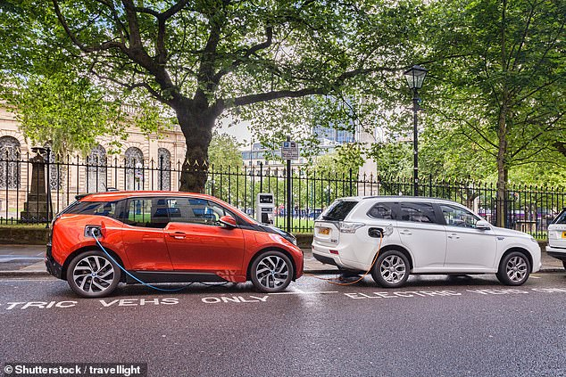 The RAC estimates there are now 332,299 pure electric cars on the roads, compared to 327,183 plug-in hybrids (like the Mitsubishi Outlander PHEV, pictured right)