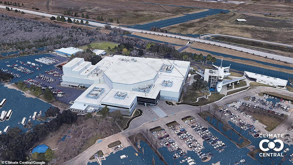 Houston Space Centre at 2.7F increase
