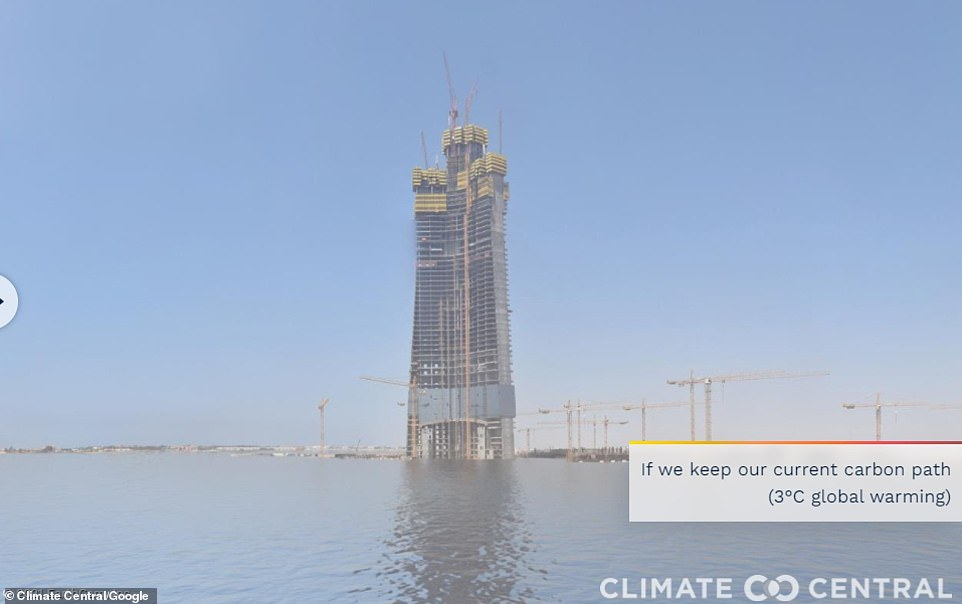 Even Jeddah Tower, a skyscrapper project in Saudia Arabia planned to be the first 1km (0.6 miles) tall building won't be unscathed if we don't cut emissions