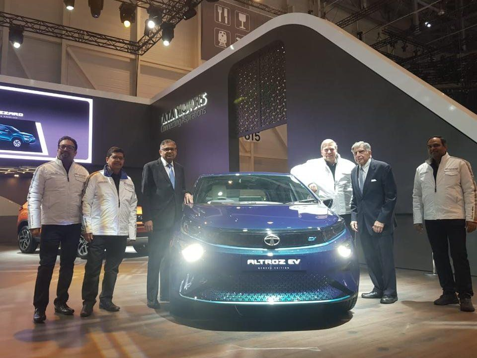 Tata Altroz EV at the Geneva Motor Show 2019