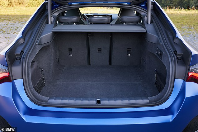 The i4 offers470 litres of boot space with the rear backrests upright