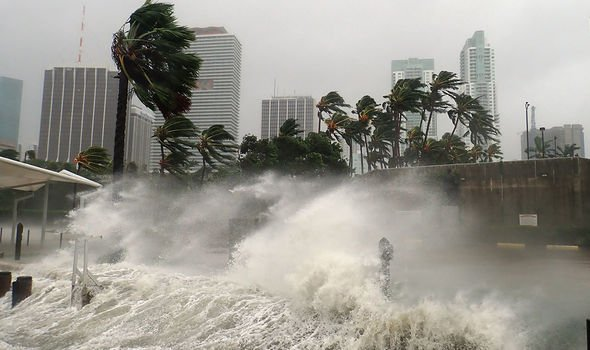 Wind speeds: Some hurricanes have recorded winds speeds of more than 150mph