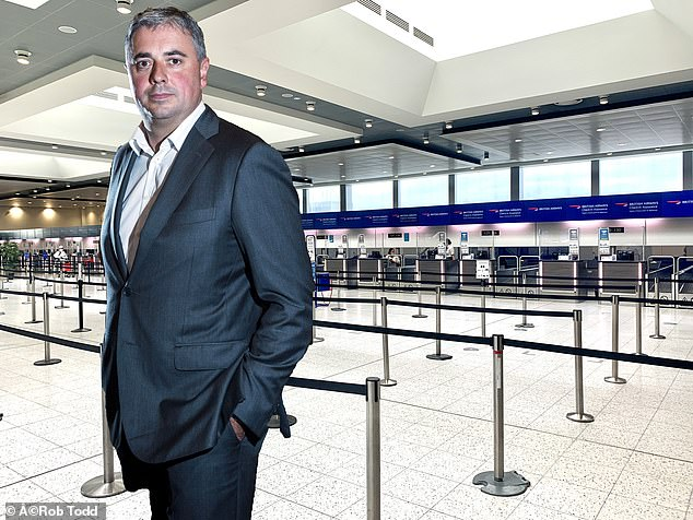 Deserted: Gatwick airport chief executive Stewart Wingate