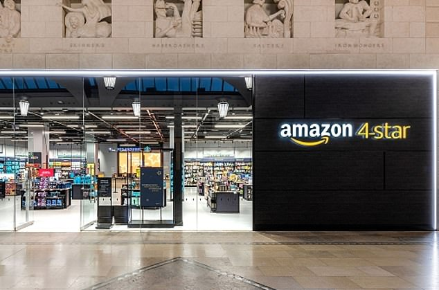 Amazon's 'four-star store' in Kent's Bluewater shopping centre sells more than 2,000 of the most popular products from Amazon's website in a shop the size of an Olympic swimming pool