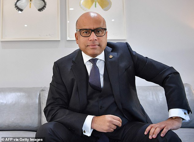Boost: Sanjeev Gupta's GFG Alliance said the cash would allow the Rotherham and Stocksbridge plants to reopen this month
