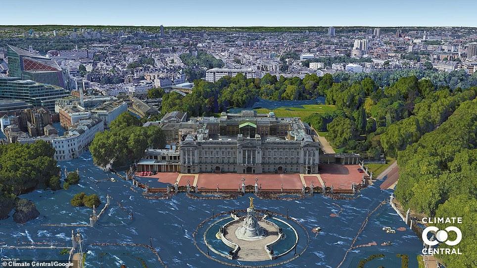 Buckingham Palace under 2.7F increase