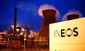 The INEOS owned Grangemouth oil refinery