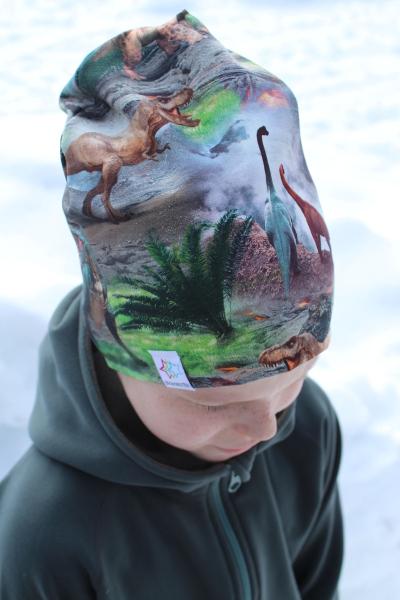 mössa dinosaurier pannband barnmössa
