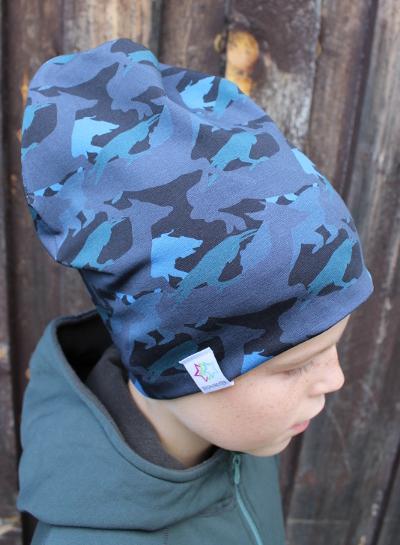 Kamouflage blå mössa mössor vuxen barn