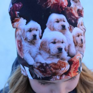 mössa med hundar barnmössa