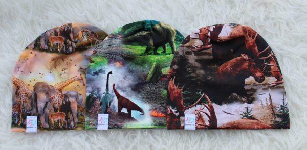 mössa dinousarie safaridjur älgar