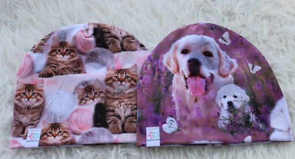 mössa mössor pannband katter hundar barn vuxen