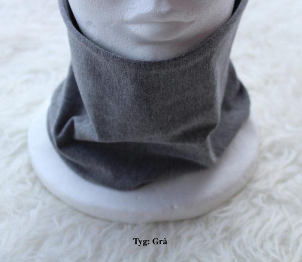 Tubsjal buff valfritt tyg enfärgad grå