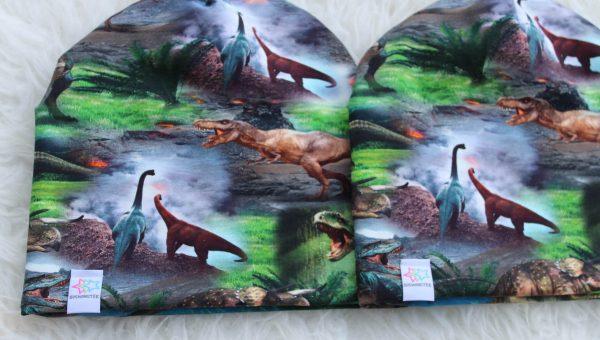 Dinosaurier mössa pannband mössa med skärm