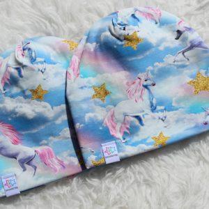 mössa unicorn enhörning himmel stjärnor