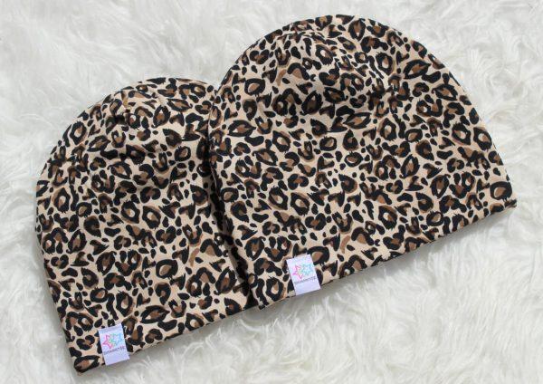 Mössa leopard brun