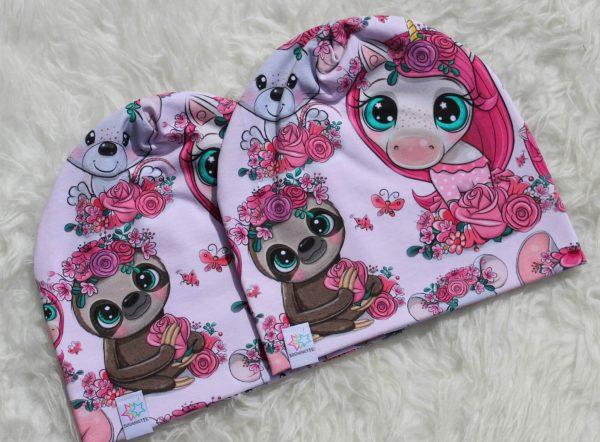 Mössa unicorn söta djur rosa barnmössa