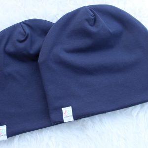 mössa pannband marinblå