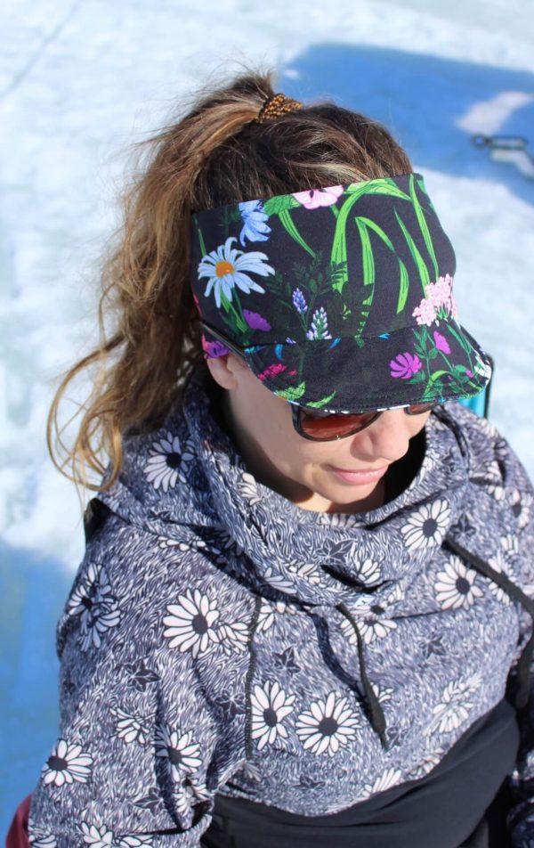 Pannband med skärm solskärm vuxna och barn mönstrat pannband
