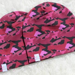 Kamouflage rosa Mössa mössor barn vuxen