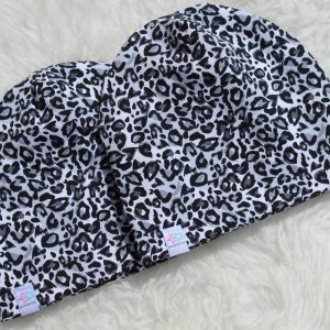 Leopard vit/grå Mössa mössor barn vuxen