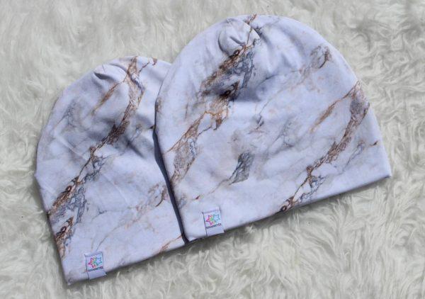 marmor mössa mössor vuxen barn med foder mönstradmössa