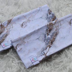 pannband med marmormönster vuxen barn pannband med foder