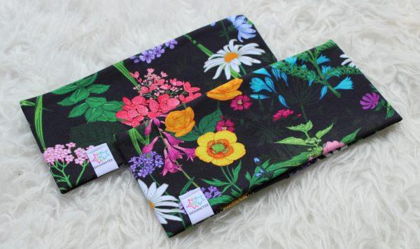 pannband med blommor vuxen barn pannband med fleecefoder