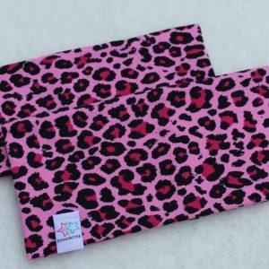 Pannband leopard rosa