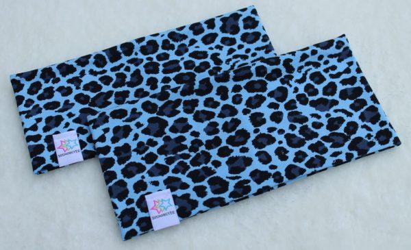 Leopard turkos pannband vuxen och barn