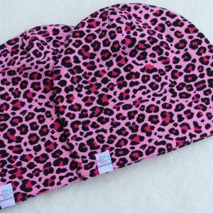 Mössa leopard rosa