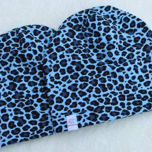 Leopard mössa turkos