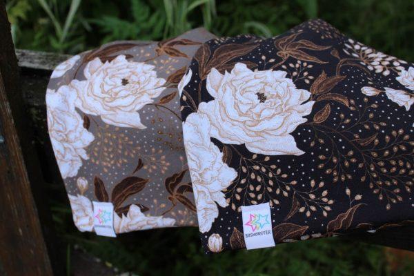 mössa och pannband med rosor och blommor för barn och vuxna