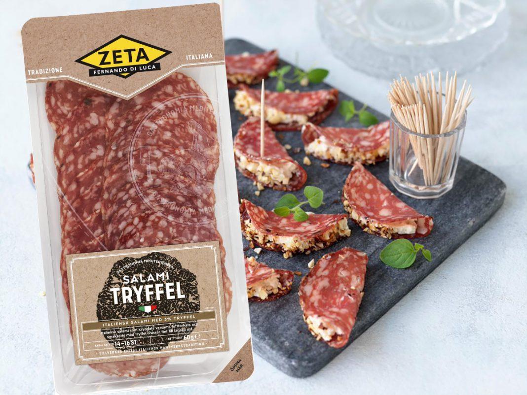 Zeta Tryffelsalami med ostcreme och rostade hasselnötter
